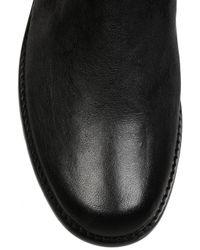 Stuart Weitzman - Black Flat Leather Thigh Boots - Lyst