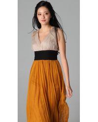 By Malene Birger - Orange Emeline Colorblock Gown - Lyst