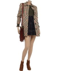 Daks Natural Checked Woolblend Coat