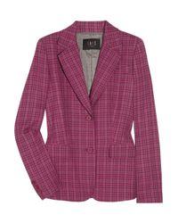 Daks Purple Plaid Woolblend Jacket