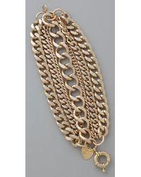 Giles & Brother Metallic Giant Multi Chain Bracelet