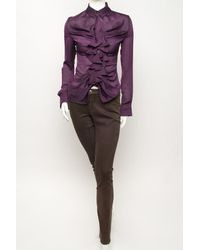 Givenchy - Purple Ruched Blouse - Lyst