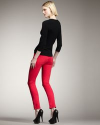 J Brand - 811 Mid-rise Skinny Twill Jeans, Shocking Pink - Lyst