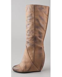 Kelsi Dagger Brooklyn Brown Kirsti Wedge Boots