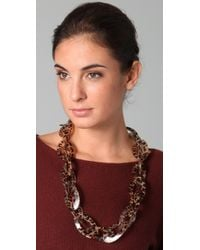 Kenneth Jay Lane - Multicolor Leopard Print Link Necklace - Lyst