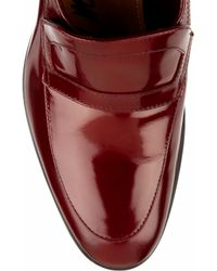 Lanvin - Brown Patent-leather Loafers - Lyst