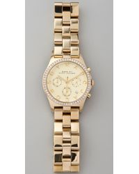 Marc By Marc Jacobs | Metallic Large Henry Glitz Watch | Lyst