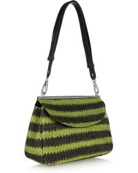 Marni | Green Striped Woven Shoulder Bag | Lyst