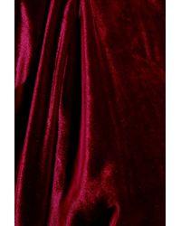 Ralph Lauren Collection - Purple Bryson Asymmetric Velvet Gown - Lyst