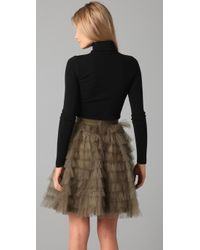 RED Valentino - Black Turtleneck Sweater with Lace - Lyst