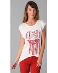 Sass & Bide - White Count On This Tee - Lyst