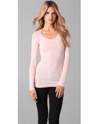 Splendid | Pink Layers Long Sleeve Tee | Lyst