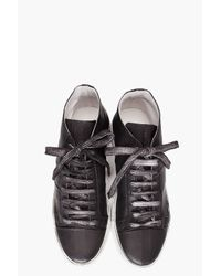 Surface To Air | Gray Overdyed Mid Top Sneakers for Men | Lyst