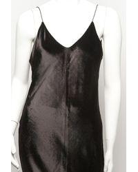 T By Alexander Wang - Black Panne Velvet Long Cami Dress - Lyst