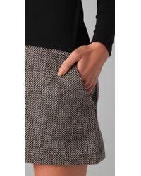 Theory   Black Lavindina Multi-tweed Dress   Lyst