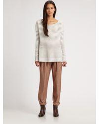 Theory | Brown Dalisha Pleated Linen Pants | Lyst