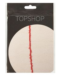TOPSHOP - Red Seam Back Tights - Lyst