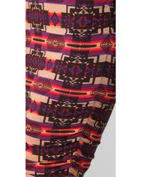 Torn By Ronny Kobo | Brown Sarah Aztec Ruched Skirt | Lyst