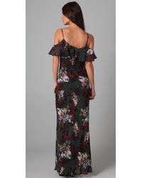 Twelfth Street Cynthia Vincent - Black Long Floral Dress - Lyst