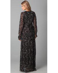Winter Kate | Black Sweet Rose Maxi Dress | Lyst