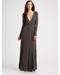 Alice + Olivia | Gray Theron Long Sleeve Maxi Dress | Lyst