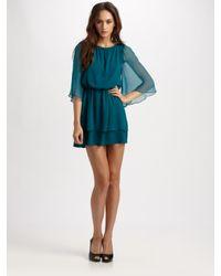 Alice + Olivia - Blue Petunia Bell Sleeve Dress - Lyst