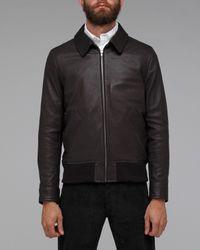 A.P.C.   Brown Blouson Moto Jacket for Men   Lyst