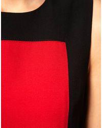 ASOS Collection | Black Asos Petite Exclusive Colour Block Dress | Lyst