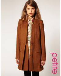 ASOS Collection | Brown Asos Petite Premium Double Lapel Coat | Lyst