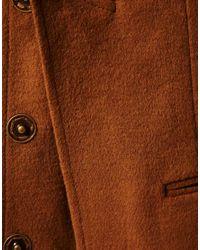 ASOS Collection - Brown Asos Petite Premium Double Lapel Coat - Lyst