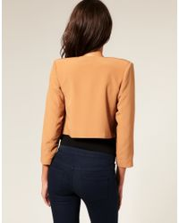 ASOS Collection - Orange Asos Tailored Draped Suit Jacket - Lyst