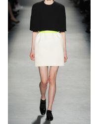 Giambattista Valli | Black Two-tone Crepe Cape Dress | Lyst