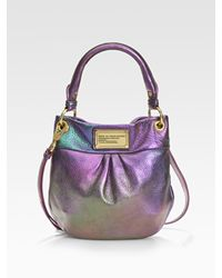 Marc By Marc Jacobs | Purple Classic Q Mini Hillier Metallic Hobo Bag | Lyst