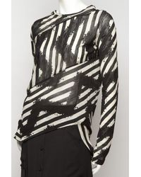 Proenza Schouler - Black Tie-dye Stripe Spiral T-shirt - Lyst