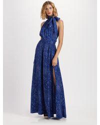 Rachel Zoe | Blue Venessa Silk Twill Maxi Skirt | Lyst