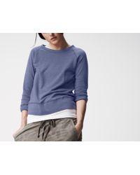 James Perse | Blue Lightweight Fleece Sweatshirt | Lyst