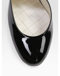 Stella McCartney | Black Two-tone Faux Patent Leather Mary Jane Pumps | Lyst