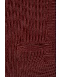 TOPSHOP - Purple Knitted Rib Shawl Cardigan - Lyst