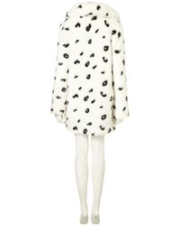 TOPSHOP - Black Dalmatian Oversized Faux Fur Coat - Lyst