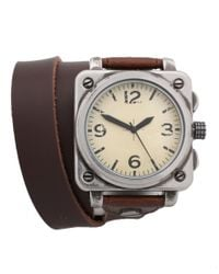 ASOS - Brown Asos Wraparound Leather Watch for Men - Lyst