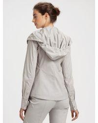 Donna Karan | Gray Paper Cotton Hooded Shirt | Lyst