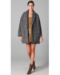 Jenni Kayne | Gray Shawl Collar Coat | Lyst