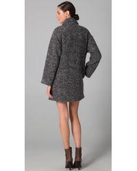 Jenni Kayne | Gray Shawl Collar Coat | Lyst