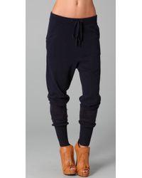 L.A.M.B. | Blue Drawstring Knit Pants | Lyst