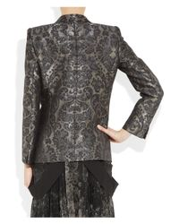 Roberto Cavalli - Gray Silk-blend Jacquard Jacket - Lyst