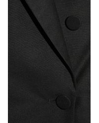Stella McCartney - Black Backless Silk-broadcloth Tuxedo Dress - Lyst