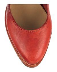 Acne | Red Melrose Leather Platform Pumps | Lyst