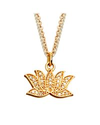 Astley Clarke - Metallic Lotus Charm Pendant - Lyst