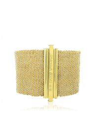 Carolina Bucci Metallic Woven Cuff in Gold