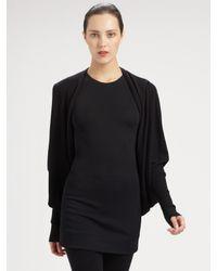Donna Karan | Black Cashmere Shrug | Lyst